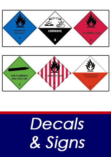 Decals and signs button