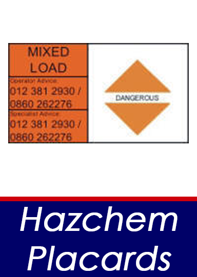 Hazchem Placards button
