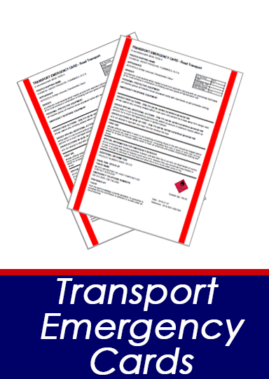 Transport emergency cards button